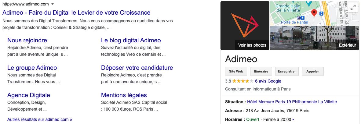 google my business adimeo