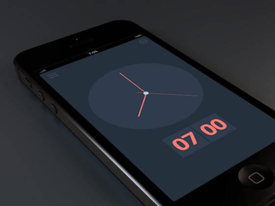 Exemple de flat design avec une horloge