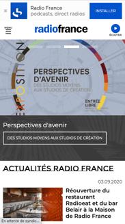radiofrance - exemple de site drupal - mobile
