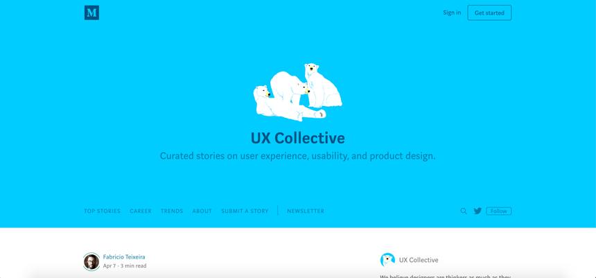 Capture d'écran d'UXdesign.cc