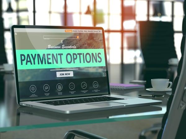 Page options de paiement