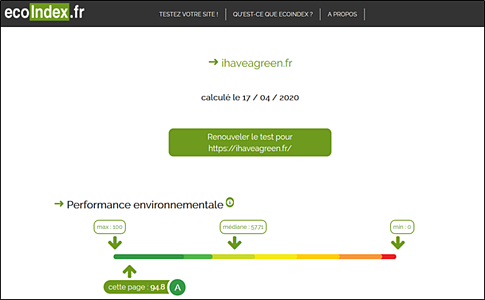 Analyse du site I Have a Green
