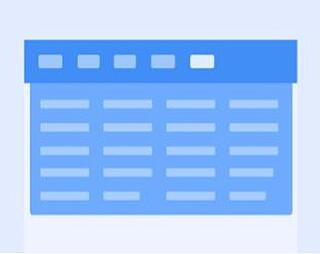 Mega menu / Menu rectangulaire