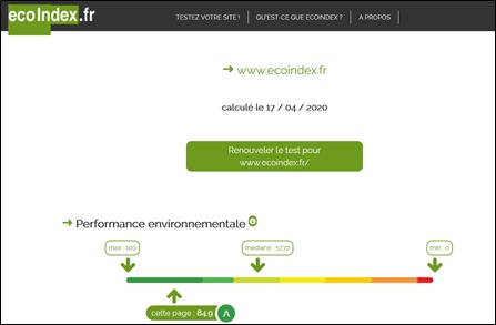 Analyse du site EcoIndex
