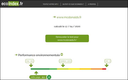 Analyse du site de McDonald's