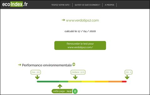 Analyse du site de VERDOT Ips